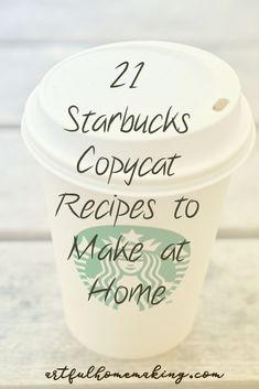 copycat recipes 21 Easy and Delicious Starbucks Copycat recipes you can make at home! Starbucks Sweet Cream, Starbucks Vanilla Latte, Best Starbucks Drinks, Starbucks Recipes, Coffee Recipes, Frozen Drink Recipes, Copykat Recipes, Smoothie Drinks, Smoothies