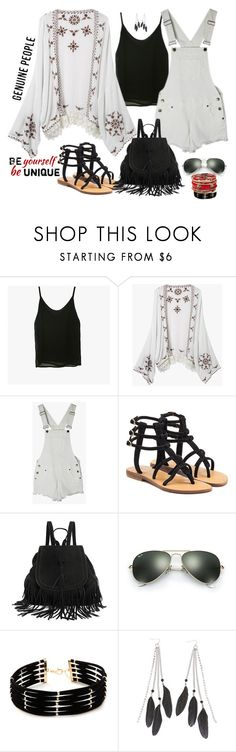 """@genuine-people"" by jecakns ❤ liked on Polyvore featuring Mystique, Ray-Ban, Forever 21, Charlotte Russe, Amrita Singh and Genuine_People"