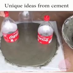 Unique ideas from cement / - Diy And Crafts Diy Home Crafts, Diy Arts And Crafts, Garden Crafts, Creative Crafts, Concrete Crafts, Concrete Projects, Diy Projects, Cement Art, Hacks Diy
