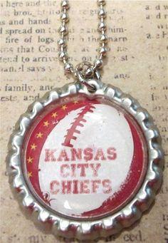 Kansas City Chiefs Football Necklace