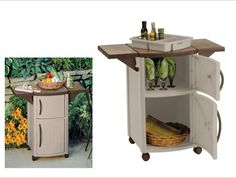 Outdoor Prep Station Patio Cabinet Counter Poolside Backyard Serve BBQ Party