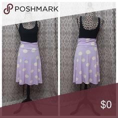 LLR Azure Skirt LulaRoe Azure Medium EUC Lavender w/ivory polka dots. Always washed inside & hung to dry. This skirt is one item I know I would not wear in the winter & layer w/ because it is so light colored. Most of my items have all season layering options. I don't recommend this skirt for that purpose. Heavily discounted so I don't have it in storage til next summer.  Offers accepted.👍 LuLaRoe Skirts
