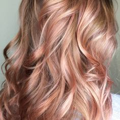 Beautiful Rose Gold / Balayage / Blush