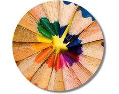 Pencil Color Wheel Round Mousepad. $11.99, via Etsy.