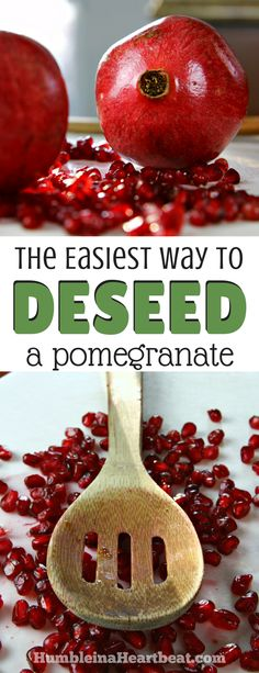 Deseeding pomegranates can be tricky if you've never learned how. Learn how to do it the right way with this tutorial, and take advantage of these delicious winter fruits before they're gone! #pomegranate #videotutorial #howto