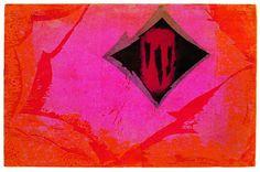 Fayga Ostrower,  Sem título, xilogravura em cores sobre papel, de 1994, tamanho 51 x 77,2 cm.