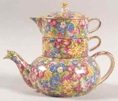 Royal Winton Joyce Lynn Vintage Chintz Stacking Tea Set | eBay