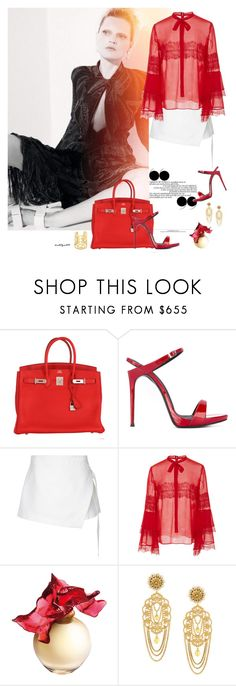 """""""Fall in love ..."""" by katelyn999 ❤ liked on Polyvore featuring GUINEVERE, Hermès, Giuseppe Zanotti, Dion Lee, Giambattista Valli, Lalique and Dolce&Gabbana"""