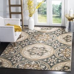 Rug 2 - Safavieh Lyndhurst Traditional Slate Blue/ Beige Rug (8' 11 x 12' Rectangle). Get free shipping at Overstock.com - Your Online Home Decor Outlet Store! Get 5% in rewards with Club O! - 20006700