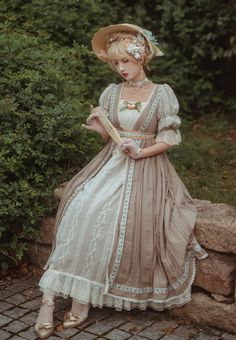 Kawaii Dress, 18th Century Fashion, Dress Sketches, Antique Clothing, Indie Fashion, Cosplay Outfits, Lolita Dress, Pretty Dresses, Cute Outfits