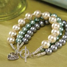 Darice Jewelry Projects - Pearl Trio Bracelet. Download instructions at www.darice.com #DIY #jewelry #crafts