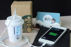 Portable Charger Starbucks 4...this is for you Annabelle #technology