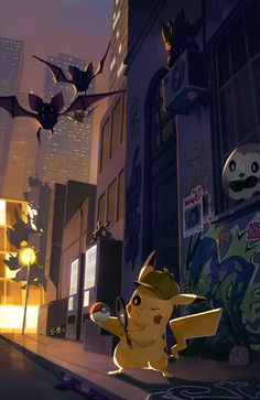 Detective Pikachu by Joanna Myczkowska Pikachu Pikachu, Pokemon Go, Pokemon Fan Art, Pokemon Cards, Pokemon Fusion, Cute Pokemon Wallpaper, Cartoon Wallpaper, Anime, Resident Evil