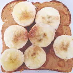 No time to cook breakfast? How about a Peanut Butter and Banana Sandwich, with just a sprinkle of Cinnamon Sugar? Extra good if you make it on Toast; Trust me on this one.