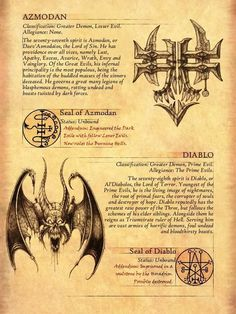 The Vizjereic Key of Horazon - Art collaboration. After writing up the character of Malphas in the Diablo Universe, I touched upon. Occult Symbols, Magic Symbols, Occult Art, Mythical Creatures Art, Mythological Creatures, Fantasy Creatures, Irish Mythology Creatures, Satanic Art, Legends And Myths