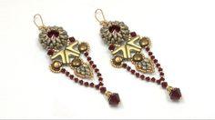 Beading4perfecftionists : Yanara earrings (Egyptian / Art Deco style) be...