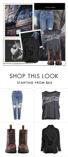 """Untitled #1604"" by nybabe96 ❤ liked on Polyvore featuring Topshop, Chaser, Dr. Martens and Rick Owens"