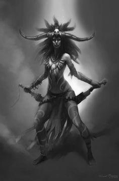 Aztec witch warrior (???)