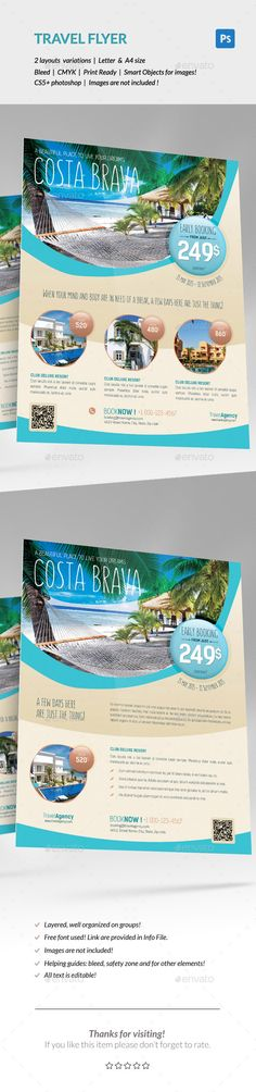 PSD  Travel Flyer  Template • Click here to download ! http://graphicriver.net/item/travel-flyer/11778227?ref=pxcr