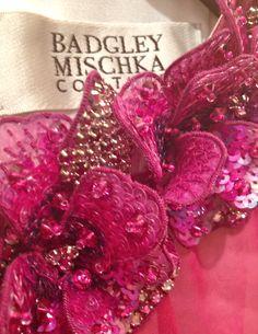 Badgley Mischka embroidery close-up.