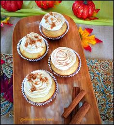 Happy Diwali & Prosperous New Year to all my Indian readers. Get up and give trick and treat (. Fall Recipes, New Recipes, Sweet Recipes, Holiday Recipes, Snickerdoodle Cupcakes, Brown Sugar Frosting, Yummy Cupcakes, Eat Dessert First, Something Sweet