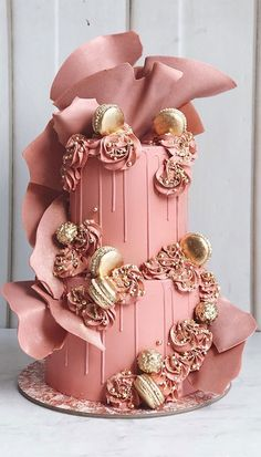 Cute Birthday Cakes, Beautiful Birthday Cakes, Pretty Wedding Cakes, Summer Wedding Cakes, Unique Wedding Cakes, Wedding Cake Designs, Pretty Cakes, Cake Wedding, Birthday Cake Design