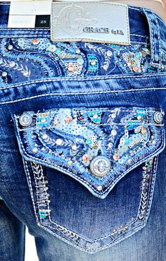 GRACE IN L.A. HIGH TIDE BOOTCUT JEANS - decadenceboutique - 1