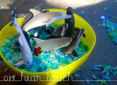 Sensory Tub Ideas | At home with Ali: Marine sensory play