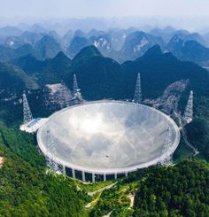 The world's largest radio telescope began operating in southwestern China Sunday, a project which Beijing says will help humanity search for alien life.  The Five-hundred-meter Aperture Spherical Radio Telescope, nestled between hills in the mountainous region of Guizhou, began working around noon, the