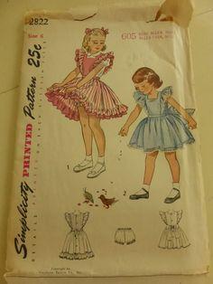 Vintage Simplicity Pattern 2822 Girls by VintagePatternDrawer, $8.95