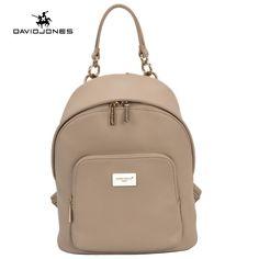 DAVIDJONES women shoulder bag pu leather female backpack large lady travel school  bag girl brand teenager 4b8bf1ea425c6