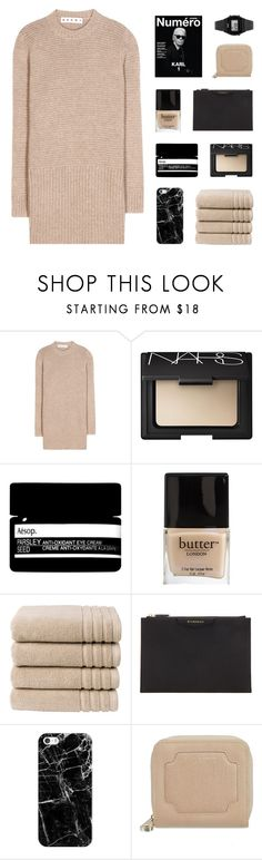 """""""miracle"""" by kiiaa ❤ liked on Polyvore featuring Marni, NARS Cosmetics, Aesop, Butter London, Christy, Givenchy, Casetify, Aspinal of London and Casio"""