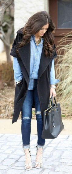 Cute Layered Outfit for chilly weather