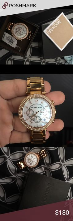 Micheal Kors rose gold watch Normal wear with a few scratches Michael Kors Jewelry Bracelets