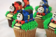 Cupcakes!! My daughter use to love Thomas the train. These would of been cute for her birthday party