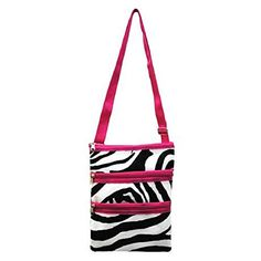 Pink Zebra Cross Body Girls Messenger Bag Hipster Purse *** Details can be found by clicking on the affiliate link Amazon.com.