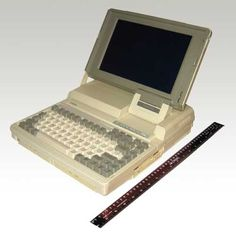 Toshiba T1600 Notebook Computer (1980s).