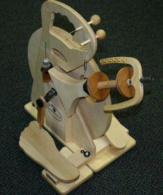 Merlin Tree Hitchhiker Double Treadle Spinning Wheel, $369.00