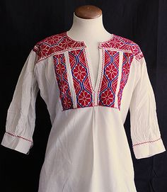 Cross Stitched Tunic Blouses from Ejutla, Mexico