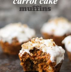 Healthy Carrot Cake Muffins packed with good for you ingredients and under 200 calories!