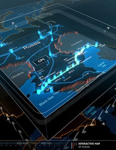 TRANSNEFT INTERACTIVE MAP on Behance Interactive Map, Interactive Design, Internet Map, 3d Video, Futuristic Technology, Information Graphics, Digital Signage, User Interface Design, Map Design