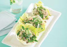 Chicken and Noodle Lettuce Cups recipe - Easy Countdown Recipes Vegetarian Recipes Easy, New Recipes, Healthy Recipes, Healthy Food, Recipies, Quick Meals To Make, Easy Meals, Easy Chicken And Noodles, Chicken Lettuce Cups