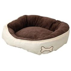 Hundeseng Teddy Bone Beige 55cm Le Dodo, Tub Chair, Flamingo, Bean Bag Chair, Bones, Accent Chairs, Beige, France, Dog Cat