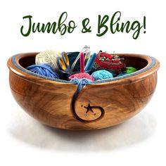 Yarn Bowl, Yarn Projects, Bowl Set, Breeze, Serving Bowls, Crochet, Tableware, Wood, Glass