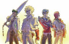 Team SSSN, Seige Ayana,Sun Wukong,Neptune Vacilias and Scarlet David Rwby Fanart, Rwby Anime, Sun Wukong Rwby, Red Like Roses, Rwby Red, Rwby Ships, Blake Belladonna, Team Rwby, Red Vs Blue