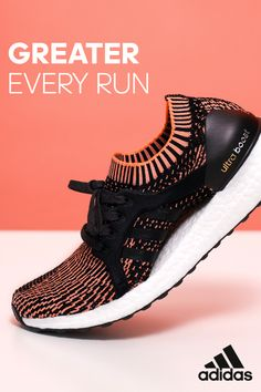 Designed to be greater every run, the all-new Women's #UltraBOOSTX fuses our best design elements to create a superior running shoe. It's full length BOOST midsole, Primeknit upper, and adaptive arch support come together to give you endless energy and sock-like comfort.
