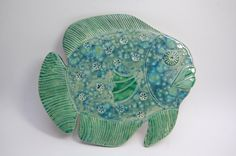 Large Ceramic Fish Coaster/Tile Kitchen Decoration by REDceramics, £16.00