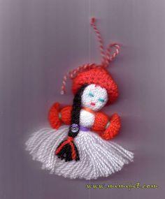 Panoramio - Photos by Minka Tsoneva (Mimipet) > Martenitsa Crochet Bunny Pattern, Crochet Bebe, Crochet Baby Booties, Crochet Patterns, Crochet Crafts, Yarn Crafts, Diy And Crafts, Christmas Ornaments To Make, Christmas Crafts