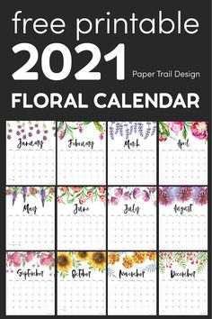 Diy Calendar, Print Calendar, Printable Calendar Template, Calendar Pages, 2021 Calendar, Planner Pages, Printable Planner, Free Printables, Free Calendars To Print