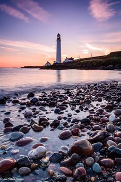 Sunrise at Scurdie Ness Lighthouse, Montrose, Scotland